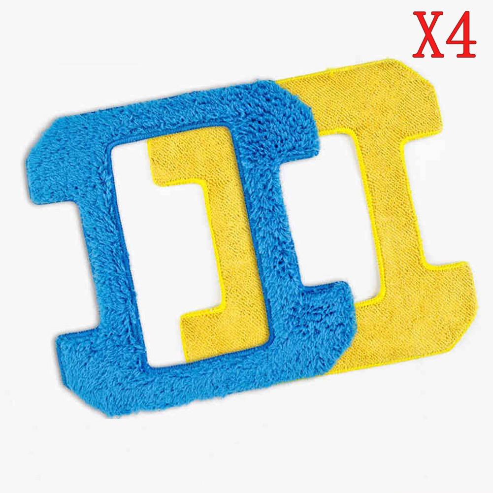 2pcs wet mop+2pcs dry mop for hobot 268 288 Robot X6 cop Rose X6 window clean mop cloth weeper glass windows cloth Cleaner Parts cop rose x6 smart robot window cleaner page 10