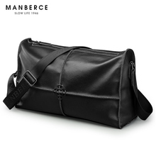 Brand MANBERCE 2017 New Genuine Large Capacity Men Shoulder Bag Casual Travel Messenger Bag Men's Crossbody Bag Free Shipping