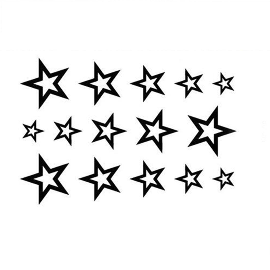Waterproof Temporary Tattoo Sticker Stars Tattoo Water Transfer Fake Tattoo Flash Tattoo For Men Girl