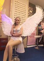 Personnalisé Unique Adultes blanc Doux ange ailes de plumes De Mariage Nouvel An Parti décorations pros Pur à la main