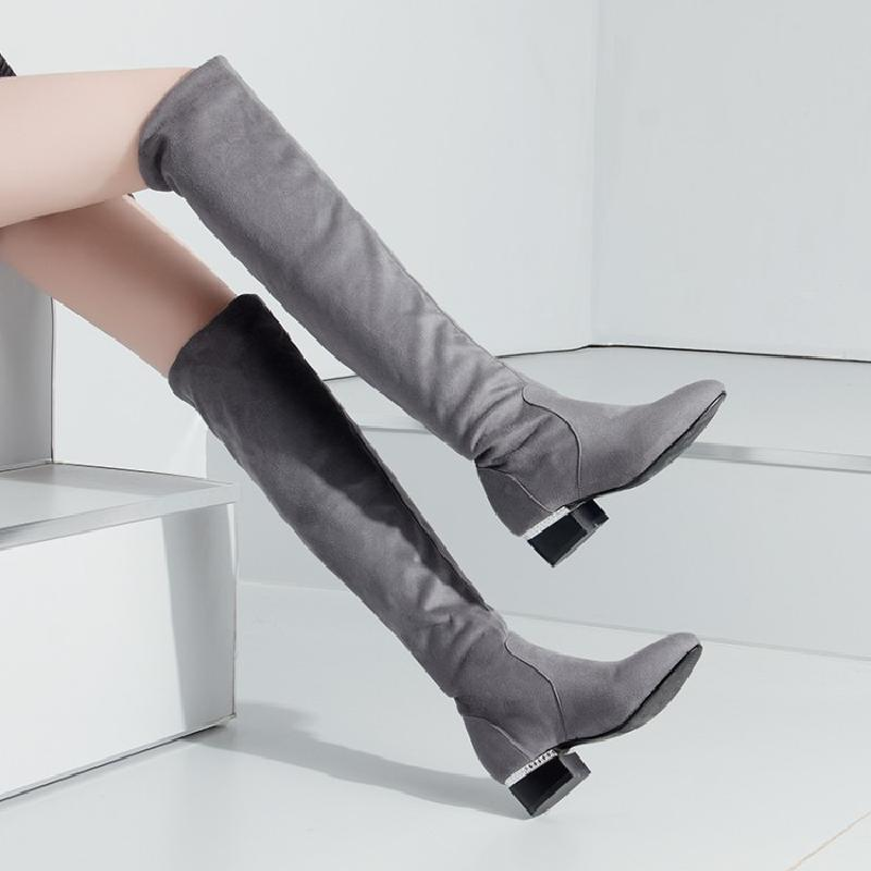 winter boots women shoes woman over the knee boots female thigh high boots grey autumn sheepskin black grey riding boot &4261 yougolun ladies fashion thigh high over the knee boots woman autumn winter womens female sexy nubuck suede leather women shoes