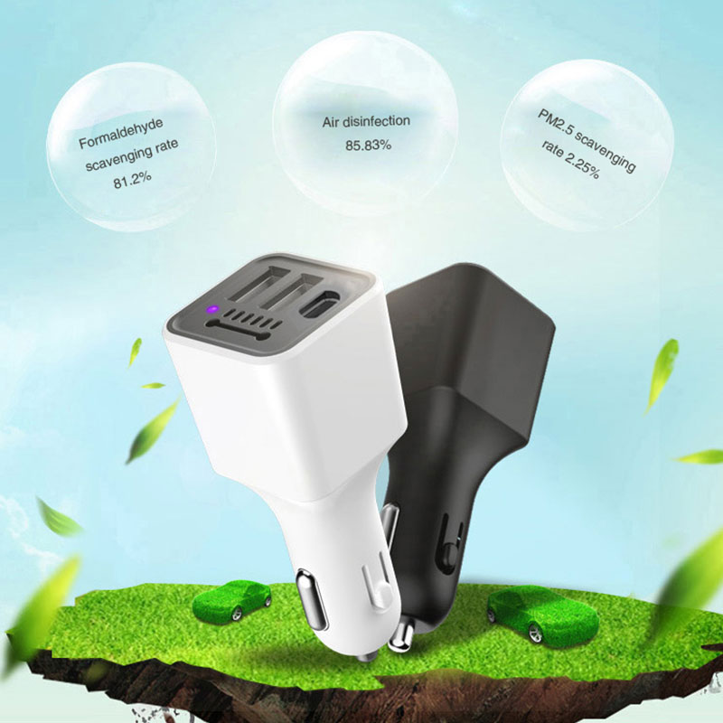 Vehemo Dual USB for USB Car Air Purifier Charger Car Charger Auto Socket Electronics Adapter Mobile Phone