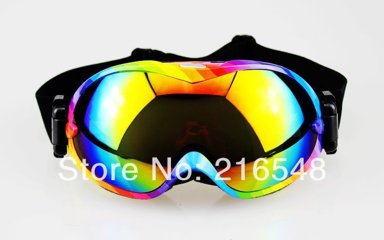 ФОТО Free shipping Fashion Rainbow Frame Dual Lens Anti-Fog Snow Ski Snowboard Goggles colour Lens