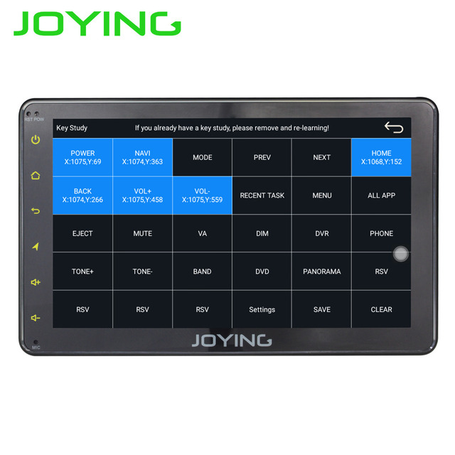 "JOYING 1 DIN 7"" touch screen Android 6 0 car radio head unit"