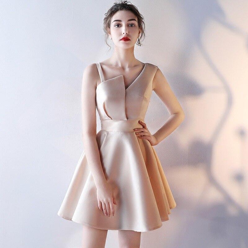 Élégant Mini robe de fête Femmes 2019 D'été Sexy V-cou Dos Nu Sans Manches robe courte robe vintage sukienka robe curto