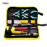 Yalku 13 In1 Kit Tool Set Chave De Fenda Mão Acampamento Conjunto de Ferramentas Chave De Fenda Set Combinação Lápis Faca Alicate Kit De Ferramentas de Arquivo