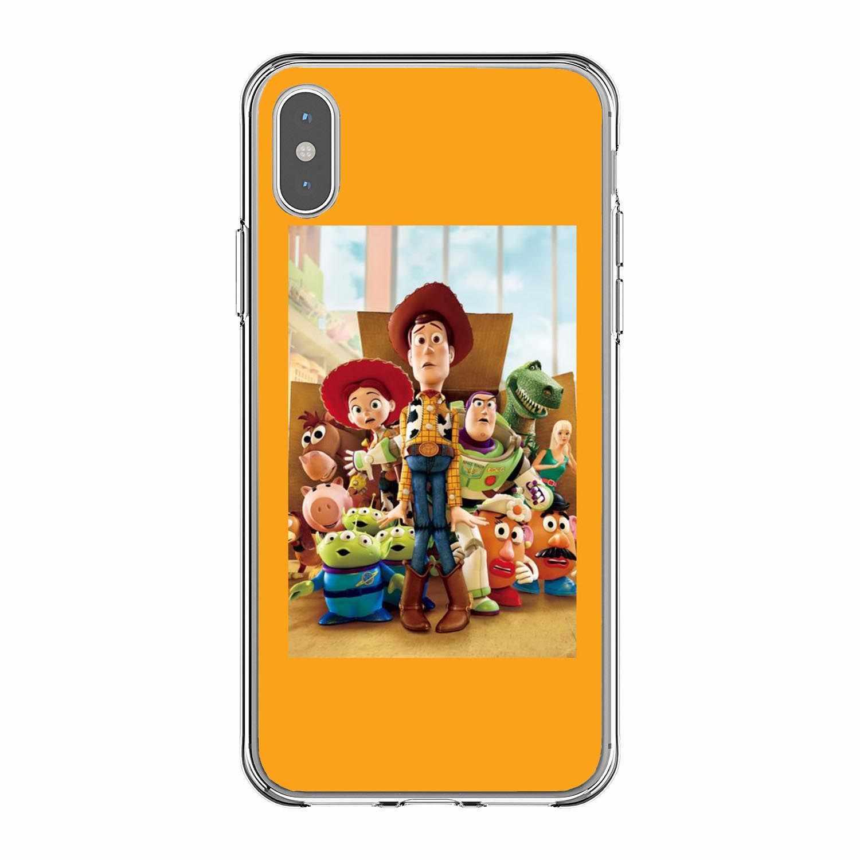 Cowboy Woody Buzz Lightyear Toy Story Мягкие силиконовые ТПУ чехлы для телефонов iPhone X 5 5S SE 6 6S Plus 7 8 Plus XS XR XS MAX