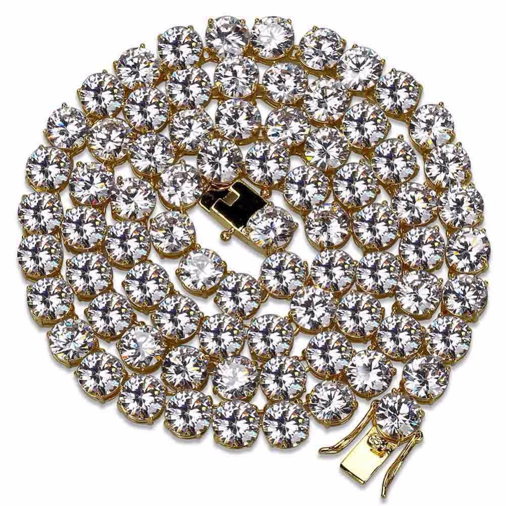 Cubic Zirconia Necklace for Men Hip Hop Bling Iced Out Rapper Jewelry 1 Row CZ Stone Tennis Chain Necklaces 20 24Cubic Zirconia Necklace for Men Hip Hop Bling Iced Out Rapper Jewelry 1 Row CZ Stone Tennis Chain Necklaces 20 24