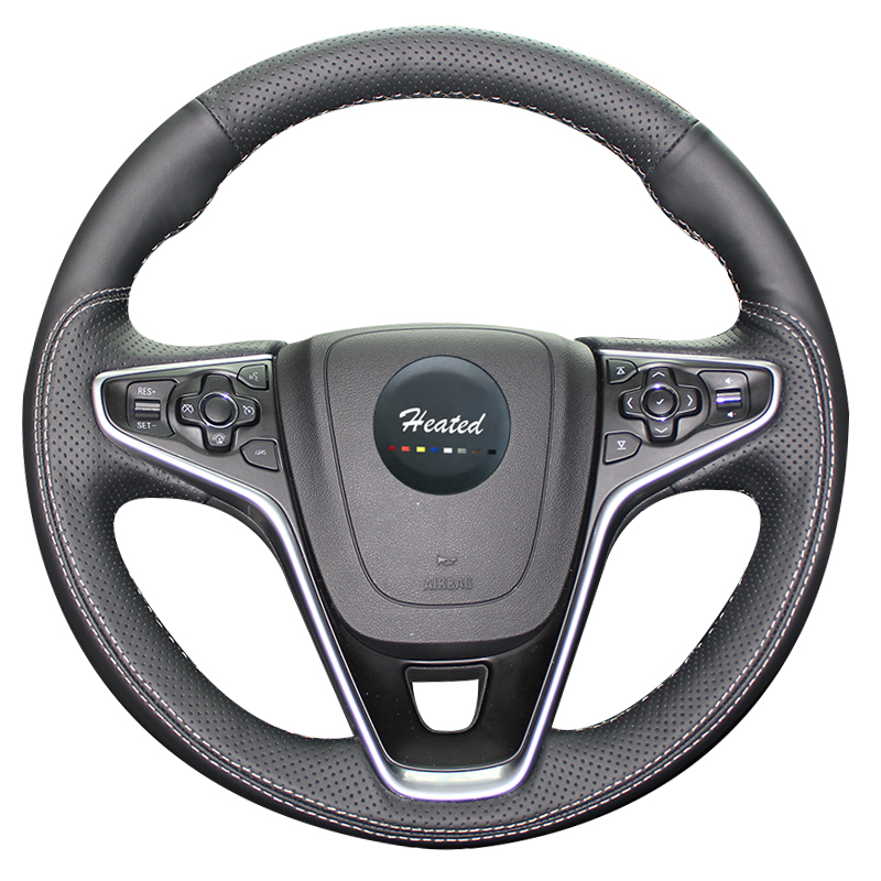 Microfiber leather Auto wheel steering cover for Buick Regal Opel Insignia 2014 2015 Braided on the steering wheel