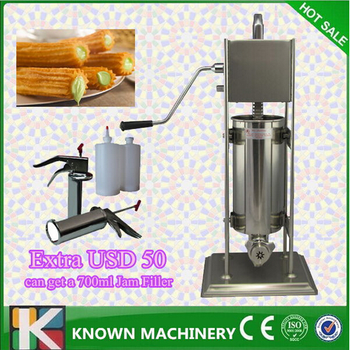 stainless steel 5L churros machine for sale/churros making machine bg 5l electric automatic spain churros machine fried dough sticks machine spanish snacks latin fruit machine