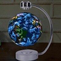 Светодиодный карта мира плавающей глобус магнитная левитация светильник бола де плазмы Dec плазменный шар антигравитация магии/Роман лампы