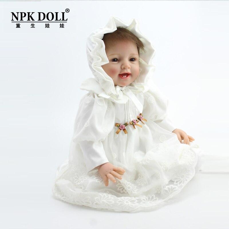 22 Inches Vinyl Realistic Baby Adora Doll Reborn Soft Silicone Princess Doll Classic Toys Wedding Decoration кукла adora baby doll 20 classic snow white