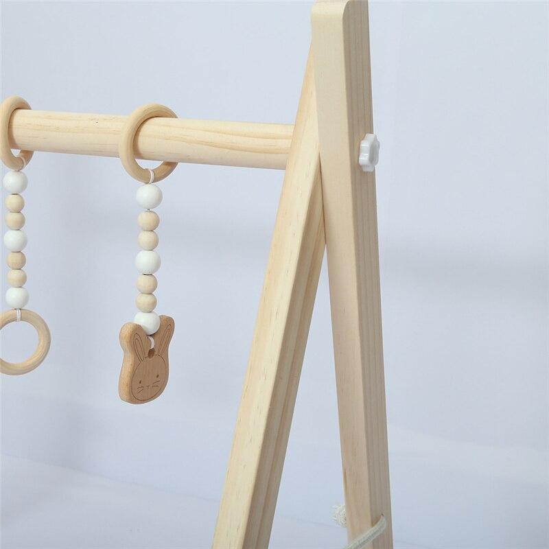 Cadre de gymnastique en bois d'activité de bébé avec les nouveau-nés nordiques Mobiles décor de chambre d'enfants de bébé jouets éducatifs précoces accessoires de photographie - 5
