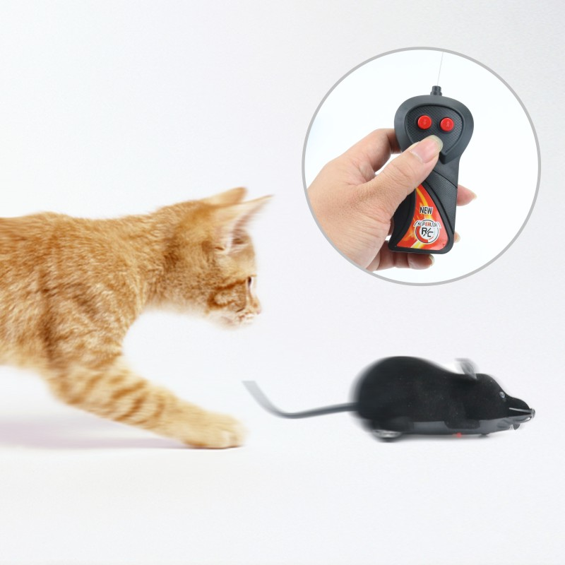 Funny Pet Cat Toy mice RC Wireless Gray Rat Mice Toy For Cats Remote Control Mouse For Kids Toys Supplies Pet Products 40P1
