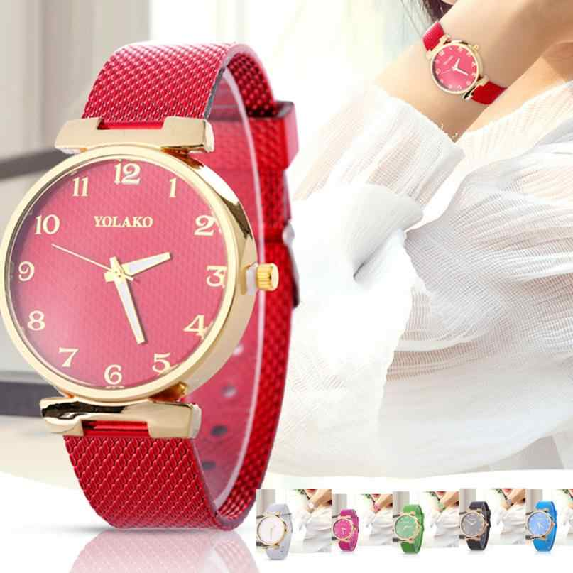 caddabf9758 Women Fashion Quartz Watch Strap Solid Table Watch ladies watches top brand  luxury clock women vintage