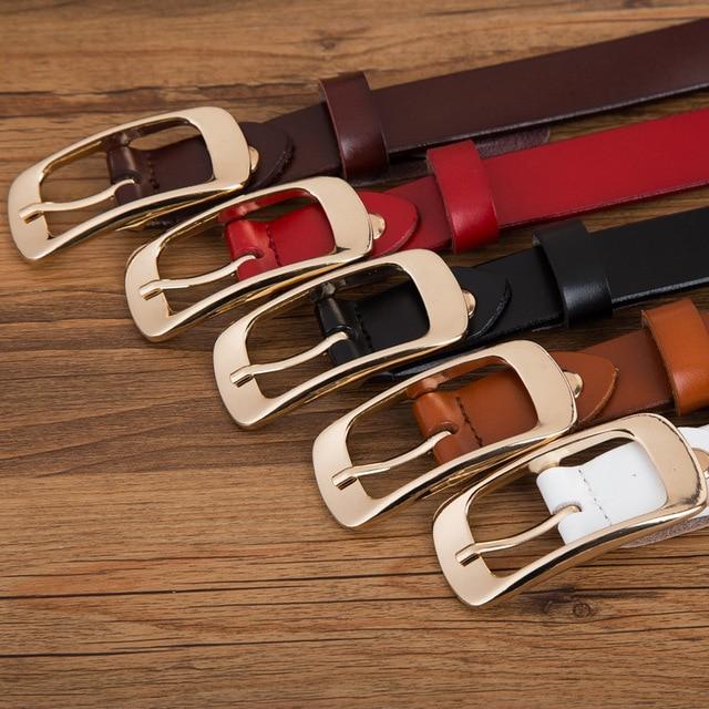 Womens' High Quality 100% Genuine Leather Belt