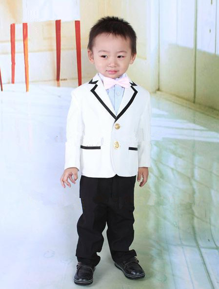 Baby Boys Tuxedo Wedding Suit Formal Clothes Jacket Pant Bm 0060 White Black