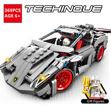 Super Sports Racing Car Bricks Racer Speed Champions Pull Building Blocks Set Creator Technic Toys