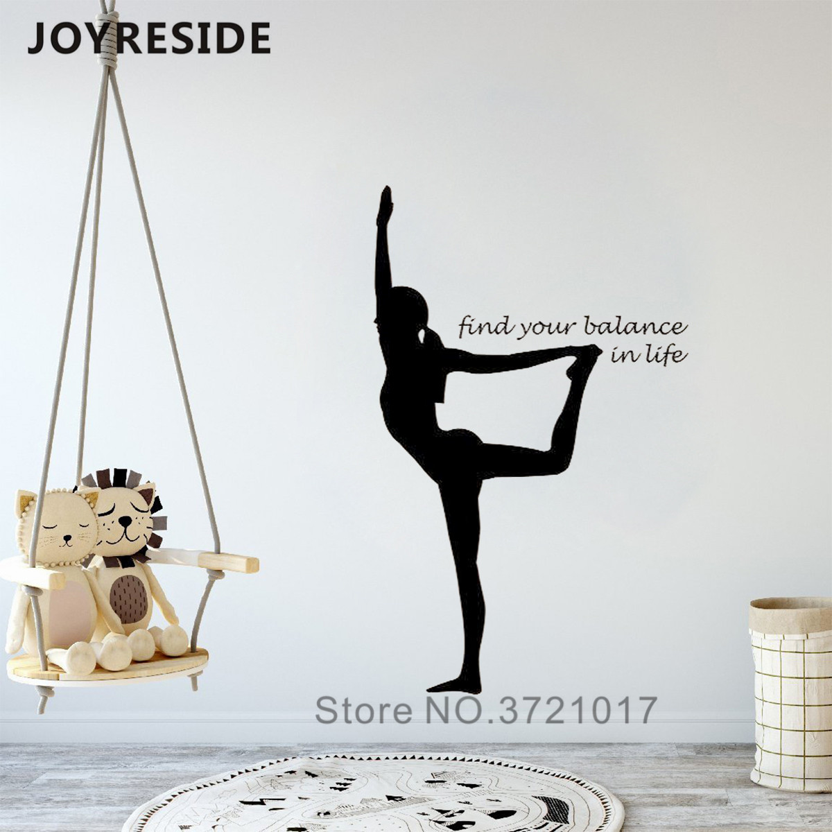Yoga Sport Woman Pattern Wall Decals Yoga Woman Find Your Balance Quotes Home Rooms Decor Wall Sticker Vinyl Design Mural M327 Wall Stickers Aliexpress