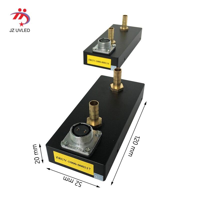 1 Stuks Van Cob Led Uv Gel Curing Lamp Voor Yi Fortuin Uv Flatbed Printer Ultraviolet Licht Inkt Bar Code Printer Droog Cure 395nm