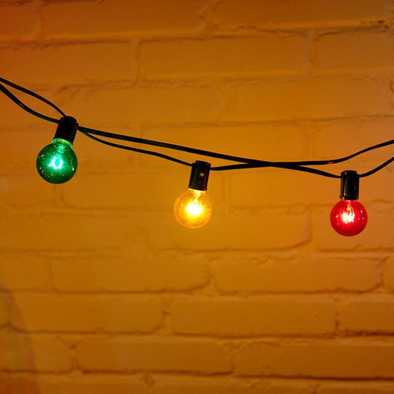 Vente LED G40 Coloré Ampoule Globe Guirlandes 25ft 25 Pcs Cour ...