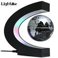 2017 novelty lâmpada criativa forma c levitação magnética globo com o mapa do mundo colorido levou abajur decoração lâmpada de mesa levou luz