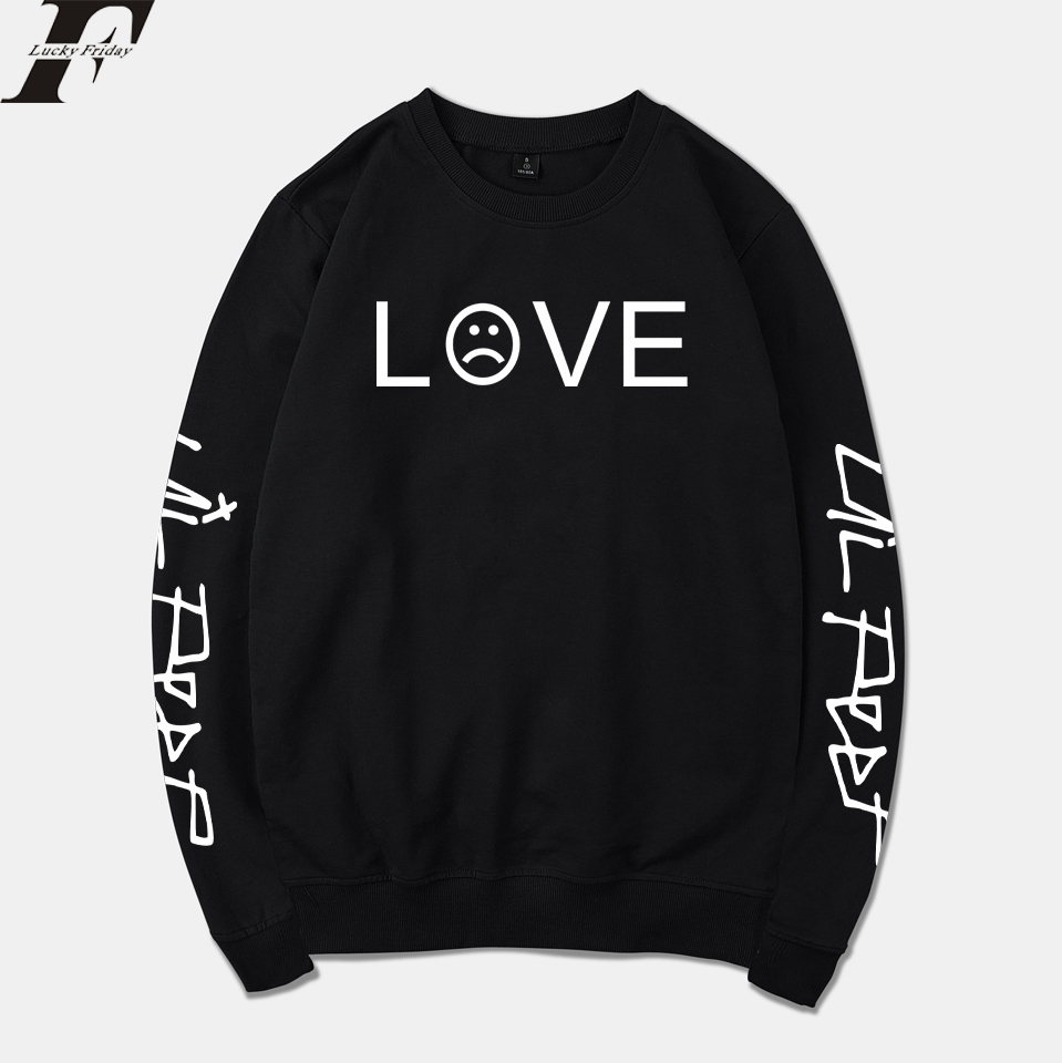 LUCKYFRIDAYF 2018 Lil Peep Spring Hoodies Men/Women Sweatshirt Streetwear Fashion R.I.P Tracksuit Loose Hoodie Sweatshirt Unisex