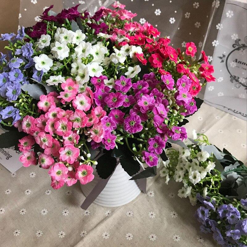 6 rama/ramo de flores de seda flor Milan plantas artificiales decoración de la b