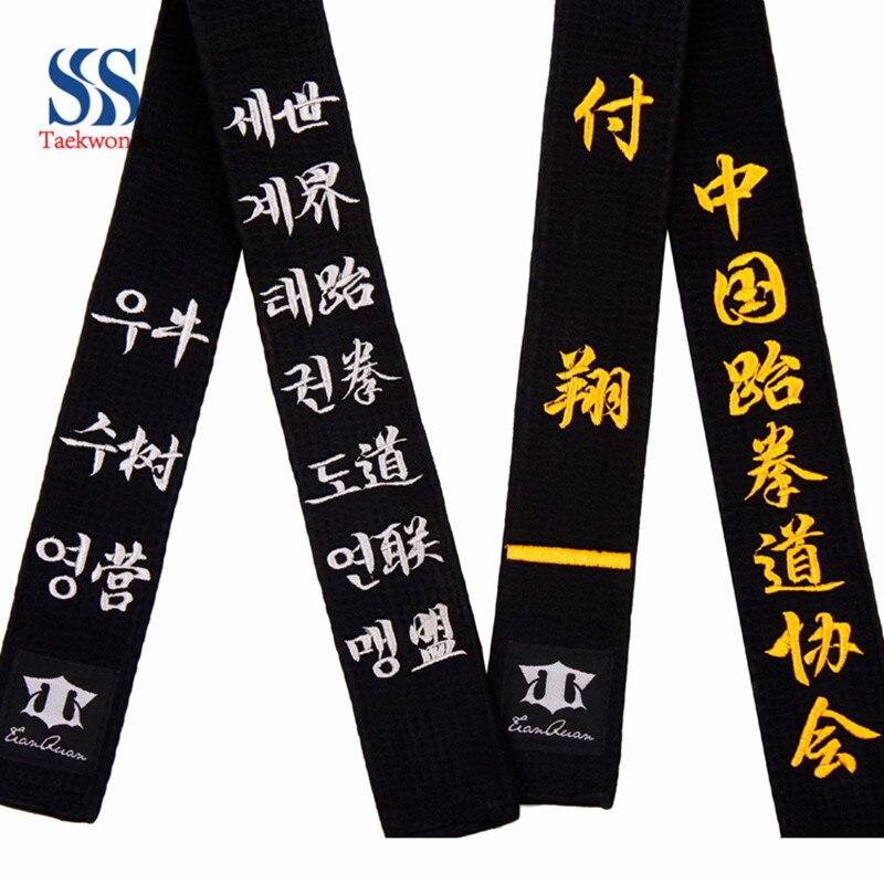 vente pas cher bon out x nouveaux produits pour Livraison gratuite WTF ITF Mooto taekwondo ceinture noire ...