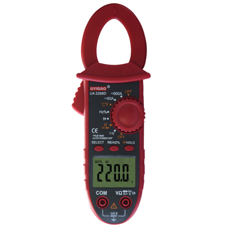 UA3268D Ammeter Voltmeter Ohmmeter Diode Digital Clamp Meter + Dual Leads [randomtext category=