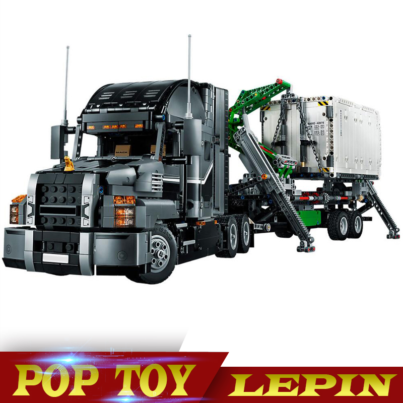 Lepin 20076 Technic Series the Mack Big Truck Set 42078 Building Blocks Bricks compatible Legoinglys Educational Children Toys new lepin 16009 1151pcs queen anne s revenge pirates of the caribbean building blocks set compatible legoed with 4195 children