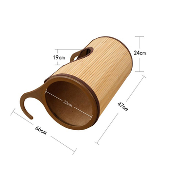 Natural Bamboo Radiator Cat Bed Home Tent Cat Tunnel Toys Hanging Wall Cat House Mat Habitat Cat Scratch Board Toys Pet Products 5