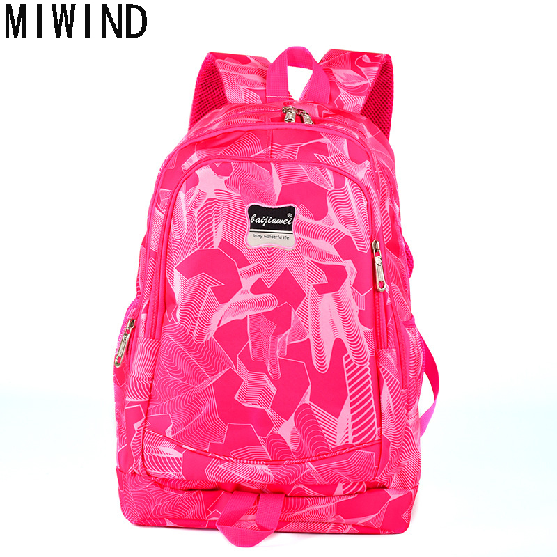 MIWIND Large Capacity Backpack Women Preppy School Bags For Teenagers Men Print Oxford Travel Bags Girls Laptop Backpack TCY1089 olidik laptop backpack for men 14 15 6 inch notebook school bags for teenagers large capacity 30l women business travel backpack
