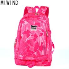 Miwind большой Ёмкость рюкзак Для женщин опрятный Школьные сумки для подростков Для мужчин печати Оксфорд Дорожные сумки Обувь для девочек рюкзак для ноутбука TCY1089