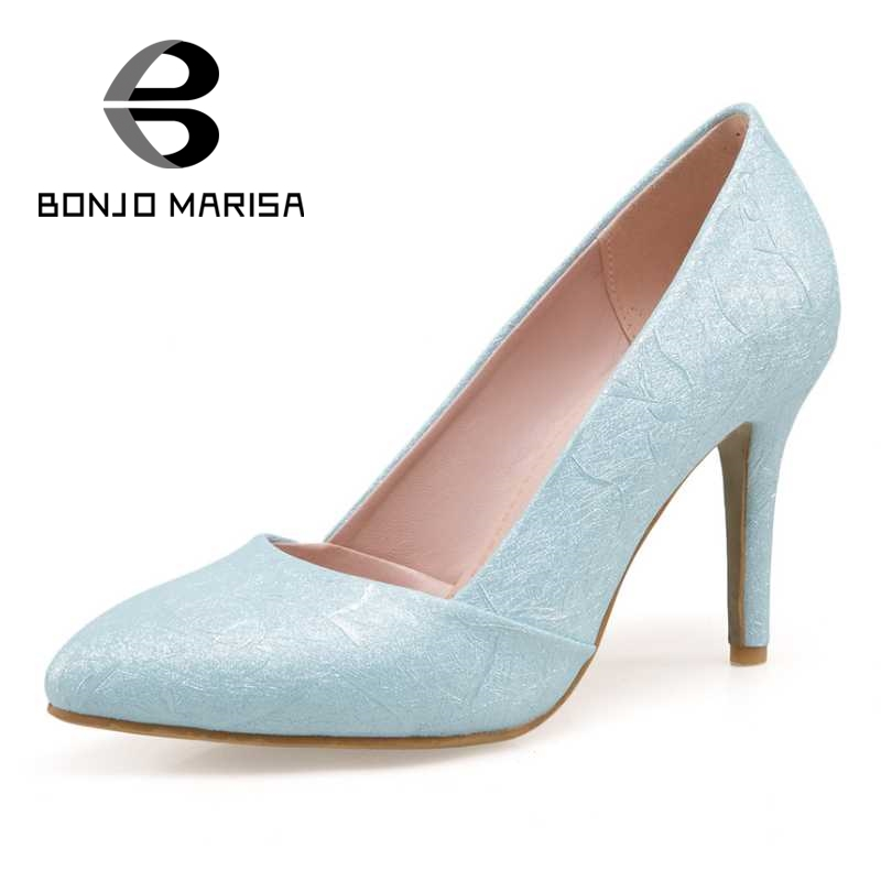 Women Pumps Office Ladies Shoes Woman Sexy Pointed Toe Thin High Heel Party Wedding Shoes Big Size 32-48 plus big size 34 52 shoes woman 2017 new arrival wedding ladies high heel fashion sweet dress pointed toe women pumps e 177