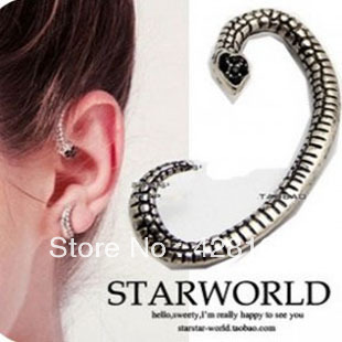 Fashion personality small spirally-wound earrings personalized stud earring vintage stud earring female
