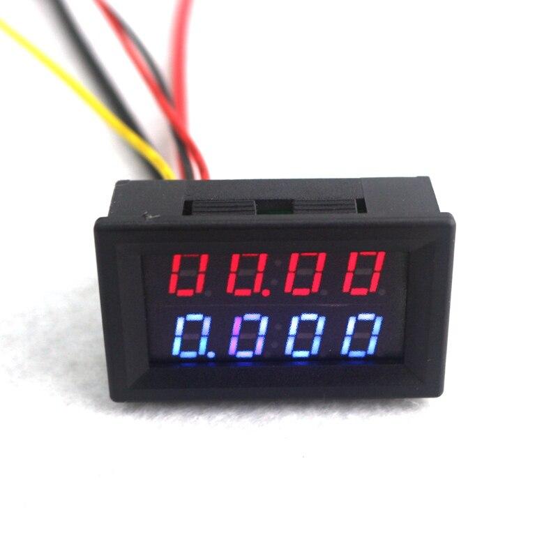 4 Bit Digital Voltmeter Ammeter DC 200V 10A Red Blue LED Dual Display Voltage Amp Panel Meter 12v 24v Car Current Monitor Tester 0 28 4 digit dc 0 33 00v 0 999 9ma 3a voltage current meter red blue