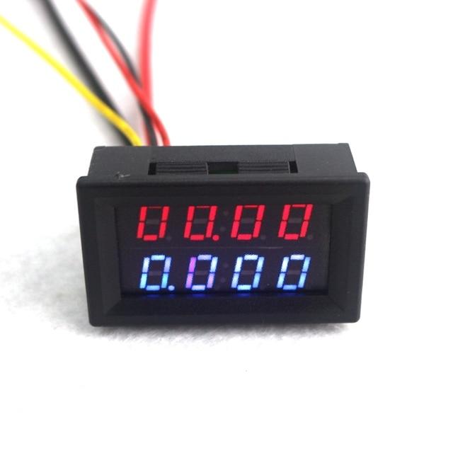 4 Bit Digital Voltmeter Ammeter Dc 200v 10a Red Blue Led