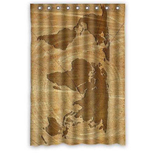 Originale tissu rideau de douche personnalis carte du - Embrasse rideau maison du monde ...