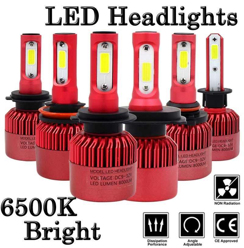 LED H4 Car Headlight Bulb Canbus H7 72W 8000LM H1 H3 HB3 9005 HB4 9006 9012 12V Automobile headLamp Conversion Kit H4 Hi-Lo Beam