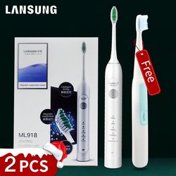 Lansung Buy one get two Electric Toothbrush Oral Hygiene Sonic Toothbrush Electric Tooth Brush Dental Care For Family