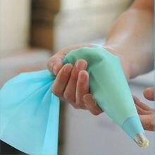 DIY Инструменты для украшения торта синий силиконовый кондитерский мешок для глазури для крема многоразовый дозатор для теста 3 размера