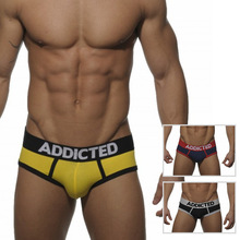 ES Addicted Men's U Convex Bag Briefs Cotton Undies Sexy Calzoncillos Gay Shorts Sexy Underwear Free Shipping three Color S M L XL