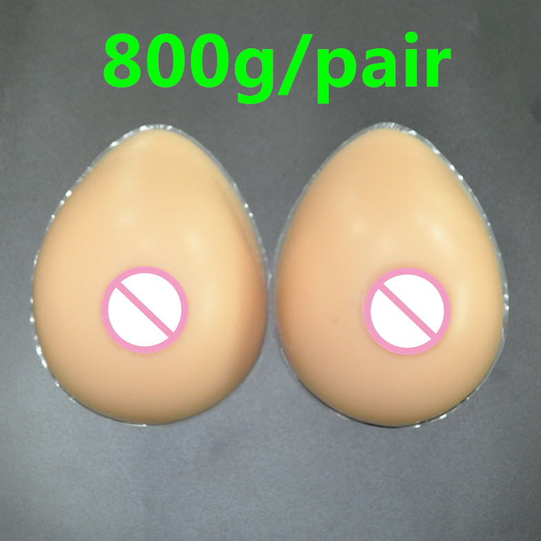 Buy 800g/pair C Cup Breast Forms Silicone Crossdresser Silicone Breast False Breasts Drag Queen Fake Boobs