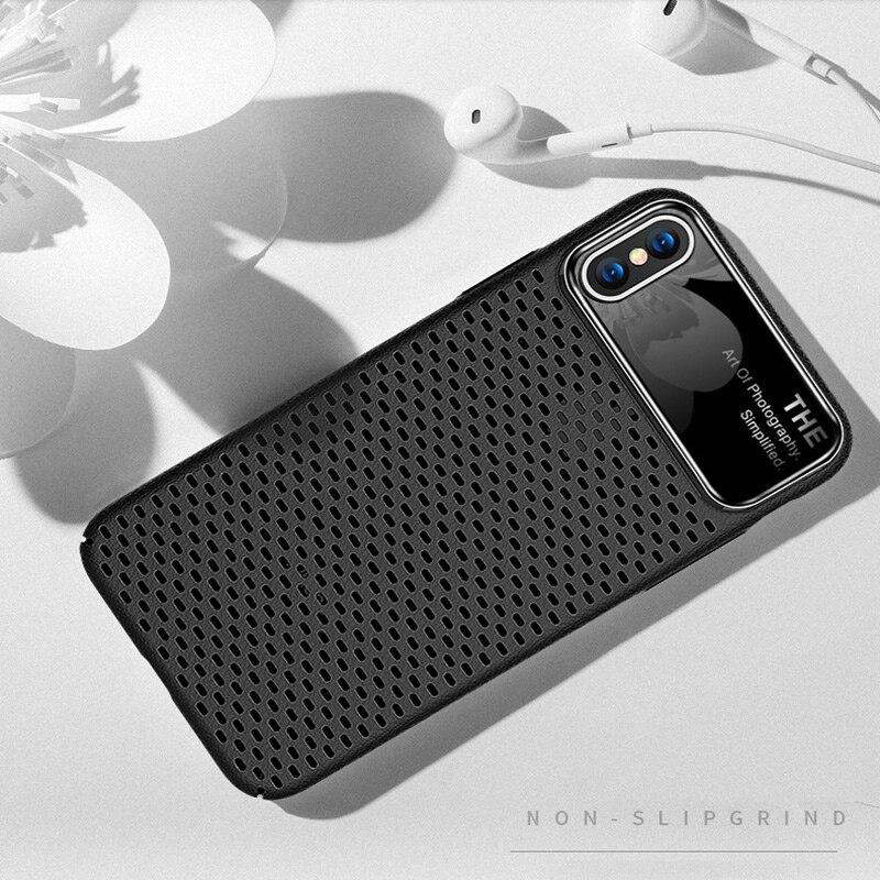 phone case bumple cover light carry anti-knock breathable simple celular plain protect for iphone accessories x 7 8 7plus 8plus