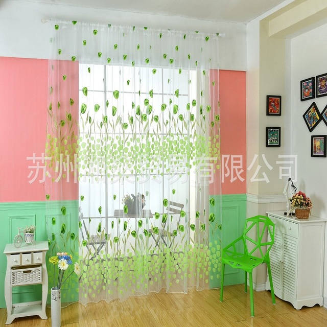Home textiles Europe and the United States explosion models white tulip curtains screens finished products AliExpress / ebay /