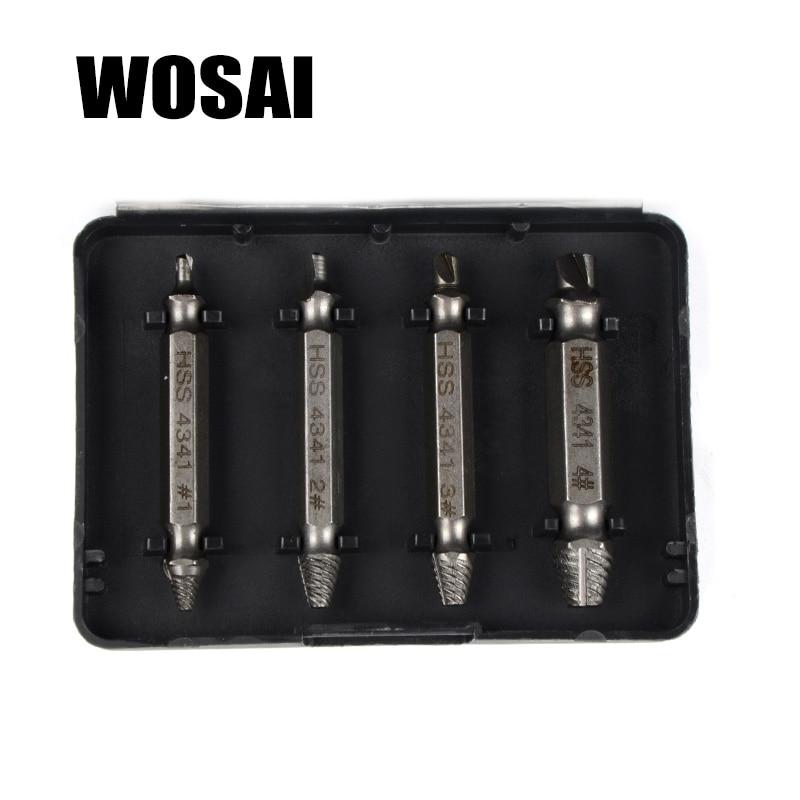 WOSAI HHS Steel 4Pcs Extractor de tornillos Juego de guías de brocas - Accesorios para herramientas eléctricas - foto 3