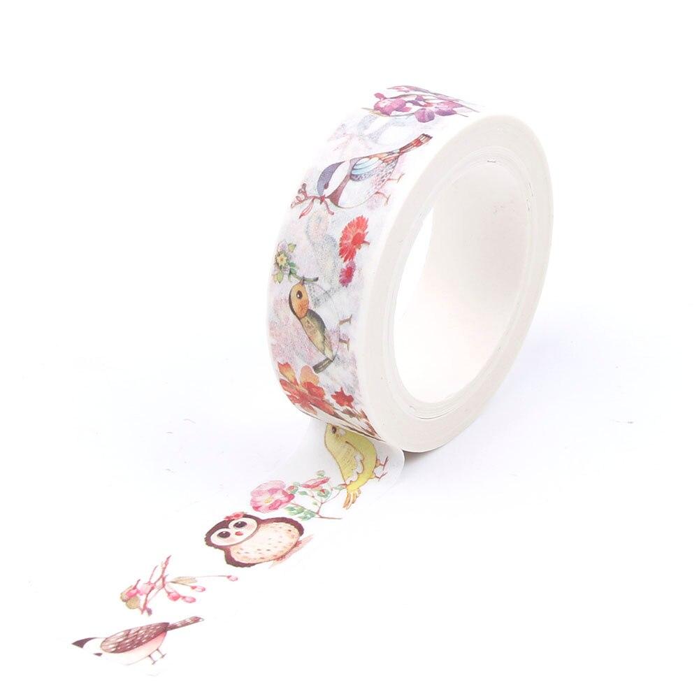 Ambizioso 1 Pz/pacco 1.5xm * 10 M Fai Da Te Di Carta Washi Tape Cartoon Ali E Rami Decorativo Nastro Adesivo Nastro Adesivo Adesivi