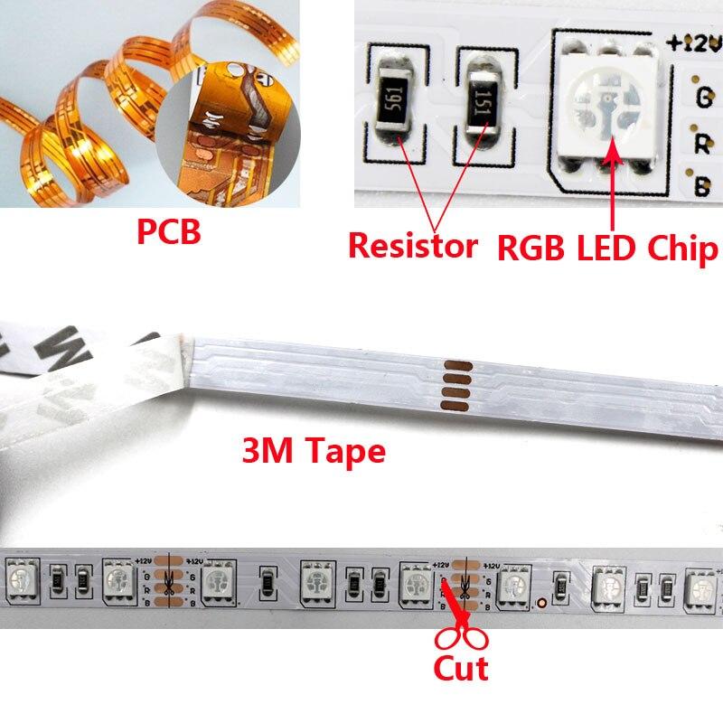Tiras de Led rgb led luz de tira Temperatura de Cor(k) : 2800-15000k