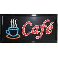 CHENXI 27 Styles Led Cafe Light Board Signs PVC Frame Window Display 19*10 Coffee Cafe Store Business Advertise